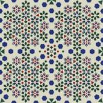 27499: Geometrisches Blumenmosaik