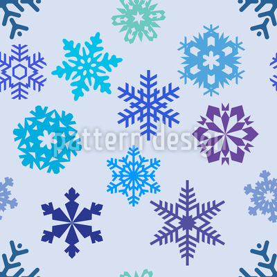 Schneeflocken Silhouetten Nahtloses Vektormuster