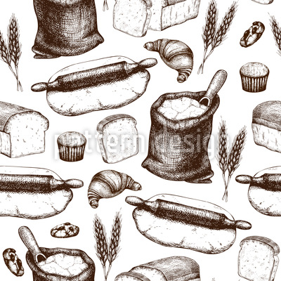 Baking Utensils Seamless Vector Pattern Design
