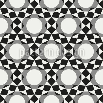 Circles become Stars Pattern Design