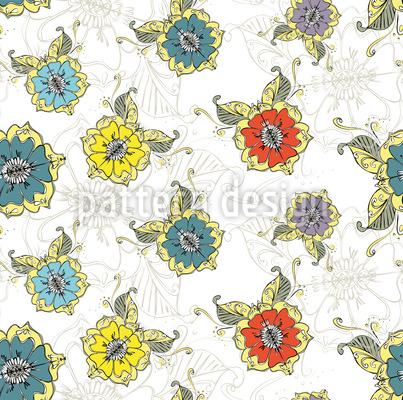Orientalischer Blumentraum Vektor Ornament