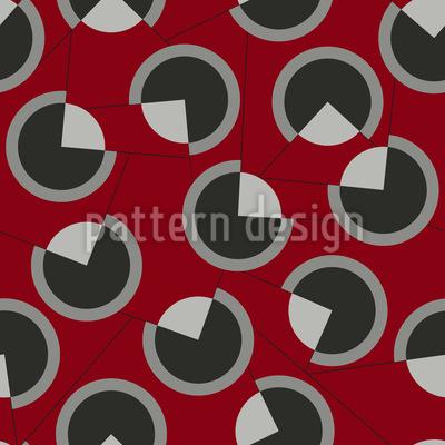 Three-quarter Circles Seamless Vector Pattern Design