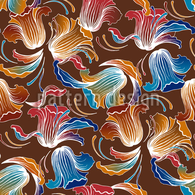 Dolores Brown Seamless Vector Pattern Design