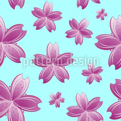 Blumen Im Wasser Designmuster