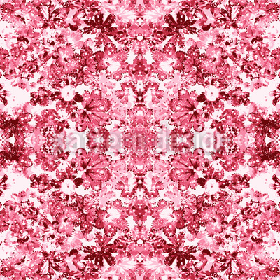 Rose Kaleidoscope Vector Ornament