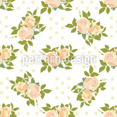 Sleeping Beauty On Polkadot Seamless Pattern