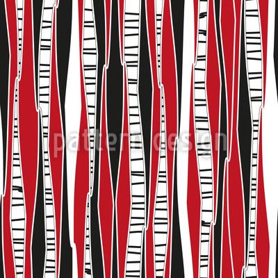 Birkenwald Im Abendrot Muster Design