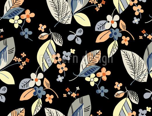 Vintage Floral Nahtloses Vektormuster