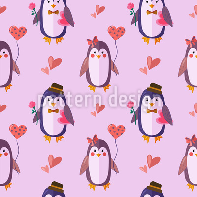 Penguins in Love Vector Design