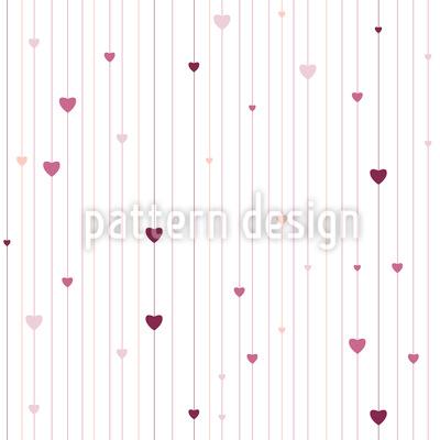 Streifen und Herzen Rapportiertes Design