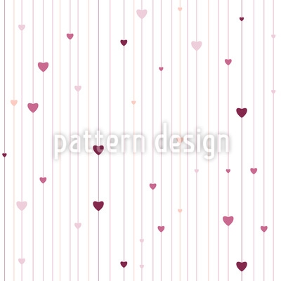 Stripes And Hearts Repeating Pattern
