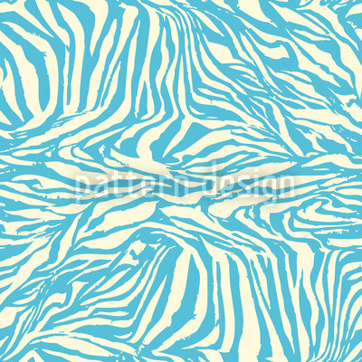 Zebra Aqua Vector Design