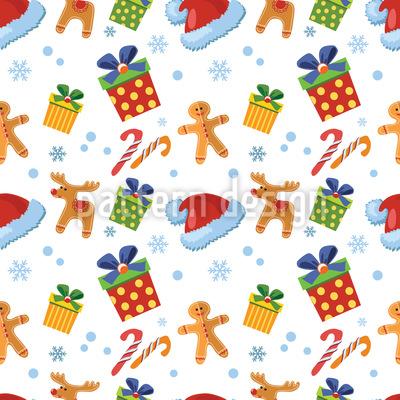 Weihnachts Süssigkeiten Designmuster