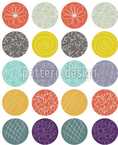 Punkt Mix Nahtloses Vektor Muster