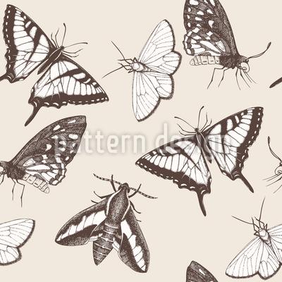 Schmetterlinge und Falter Vektor Muster