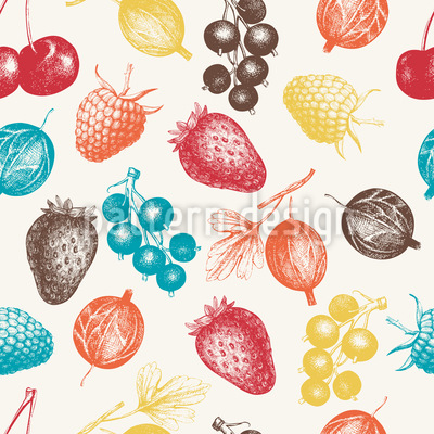 Mixed Berries Repeating Pattern
