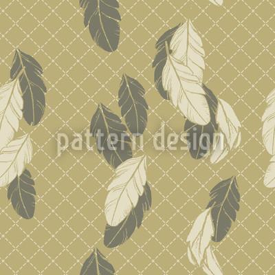 Zarte Federn Beige Muster Design