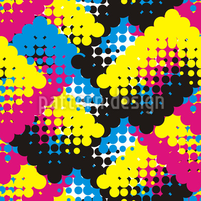 Dots Start Seamless Vector Pattern Design