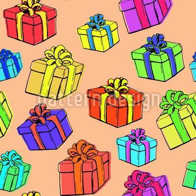Geschenkbox Rapportmuster
