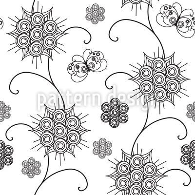 Elegante Flora Nahtloses Vektor Muster