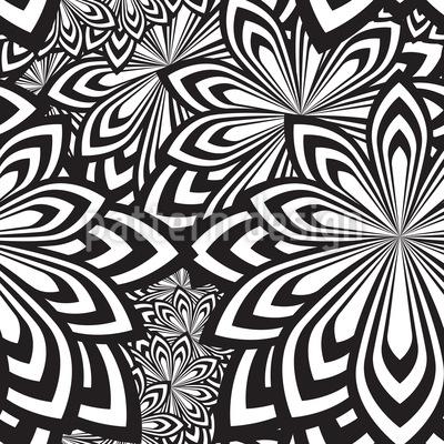 Psychedelische Blumen Nahtloses Vektormuster