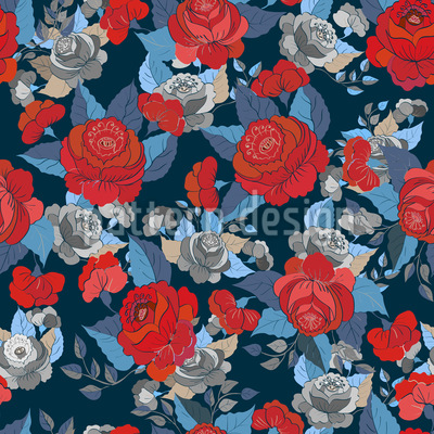 The Rose Collection Repeating Pattern