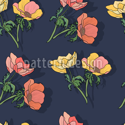 Pretty Anemones Pattern Design