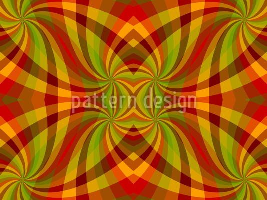 Chequered Swirls Vector Design