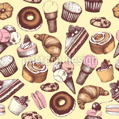My Vintage Bakery Pattern Design