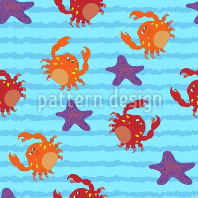 Schwimmen mit Krabben Musterdesign