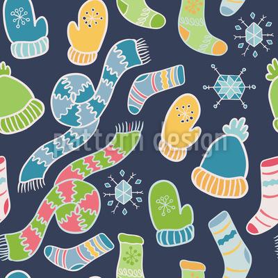Warm Einpacken Nahtloses Muster