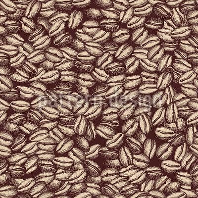 Klassischer Kaffee Rapportmuster