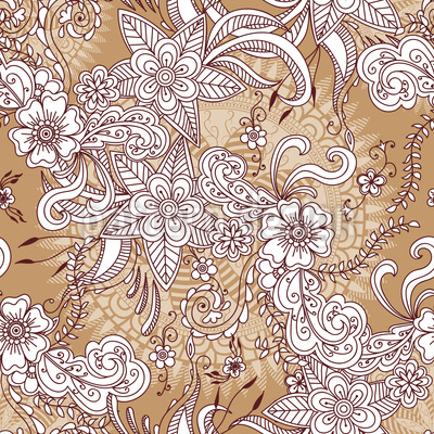 Henna Floral Vektor Muster