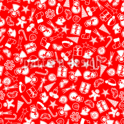Another Kind Of Christmas Seamless Vector Pattern Design