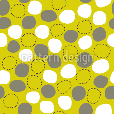 Floating And Dancing Dots Seamless Pattern