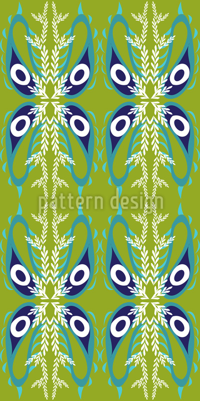 Peacock Paisley Seamless Vector Pattern