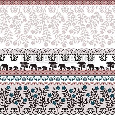 Romantische Safari Rapportiertes Design
