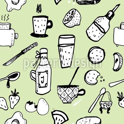 Englisches Frühstück Nahtloses Vektormuster