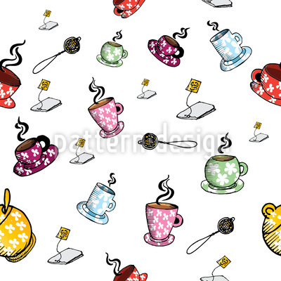 Tea Time With Friends Vector Ornament