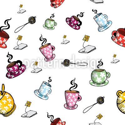 Tea-Time mit Freunden Vektor Ornament