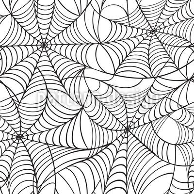 Spinnennetz Rapportiertes Design