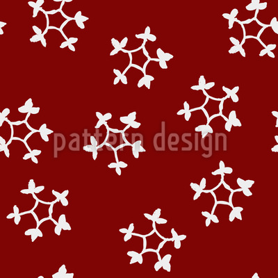 Blockprint Snowflakes Pattern Design