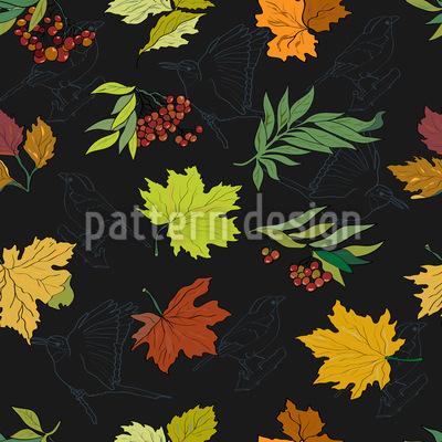 Mitternachts Blätter Designmuster