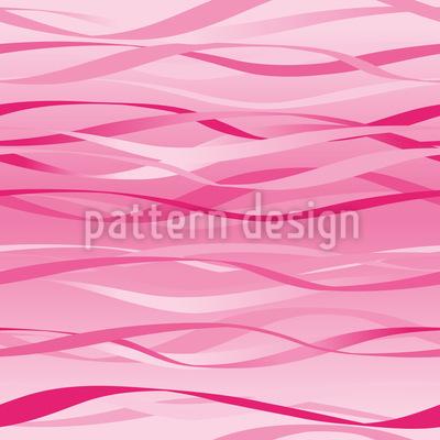 Waves Design Rose Motif Vectoriel Sans Couture