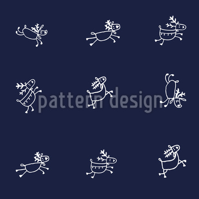 Playful Deer Seamless Pattern