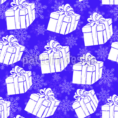 Winter Gift Boxes Vector Pattern