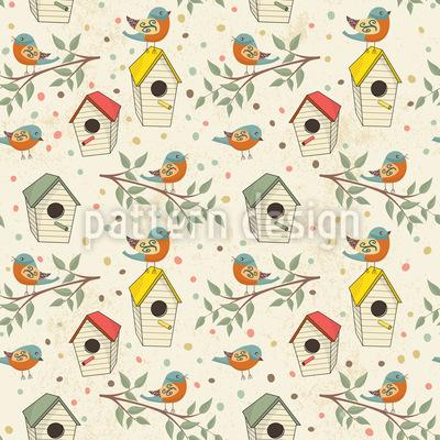 Vogelhaus Rapportiertes Design