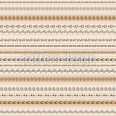 Afrikanischer Horizont Muster Design