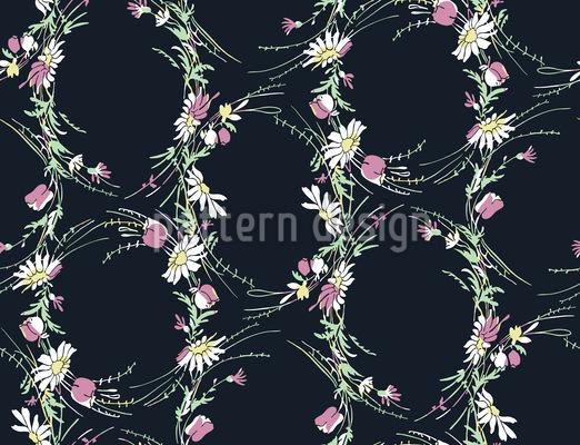 Vintage Wildblumen Rapportmuster