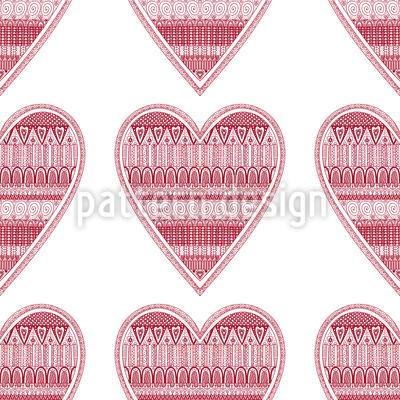 Herz Für Stricken Muster Design